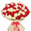 Бело-красные розы
