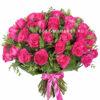 Розовые розы (51 штука)